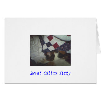 Sweet Calico Kitty Note Card