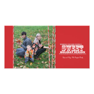 Sweet Candy Cane Christmas Photo Card