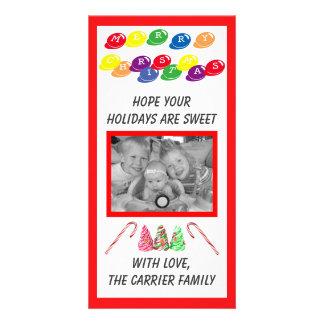 Sweet Candy Christmas - Photo Card