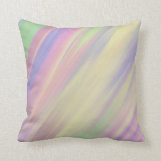 Sweet Candy Colored Swirl Painting Throw Cushion