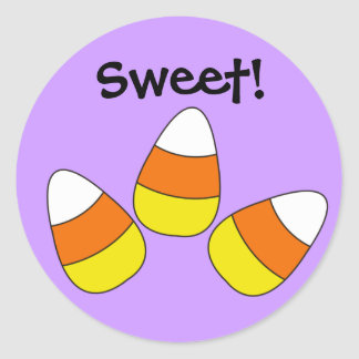 Sweet Candy Corn Halloween Sticker