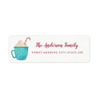 Sweet Candy Mug Christmas Return Address Label