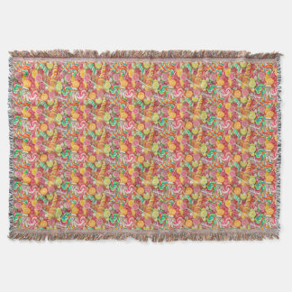 Sweet Candy Throw Blanket