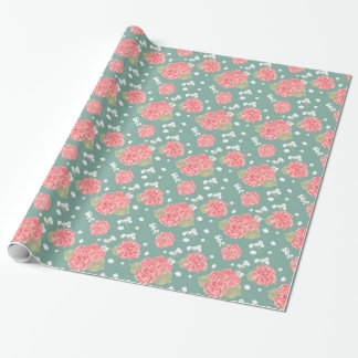 Sweet Carnation Flower Seamless Pattern Wrapping Paper
