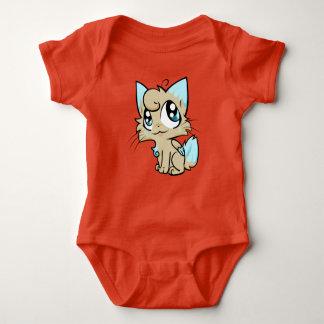 Sweet cartoon cat art baby bodysuit