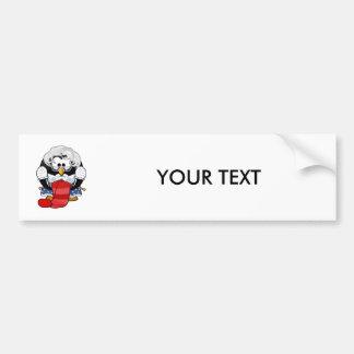 Sweet Cartoon Grandma Penguin Bumper Stickers