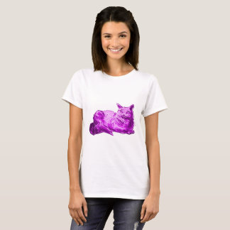 sweet cat british shorthair kitty cartoon style il T-Shirt
