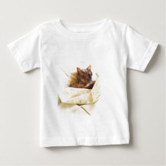 Sweet cat in bed sheets baby T-Shirt