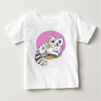 sweet cat lying down cartoon baby T-Shirt