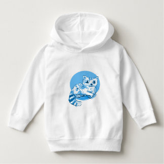 sweet cat lying down cartoon hoodie