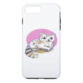 sweet cat lying down cartoon iPhone 7 plus case