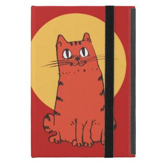 sweet cat sitting funny cartoon cover for iPad mini