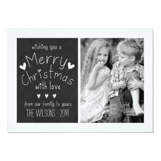 SWEET CHALKBOARD | HOLIDAY PHOTO GREETING CARD 13 CM X 18 CM INVITATION CARD