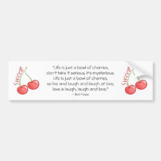Sweet Cherries Car Bumper Sticker