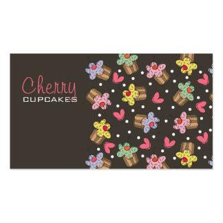 Sweet Cherry Cupcakes Bakery Dessert Profile Card Business Card