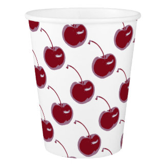 Sweet Cherry Paper Cup