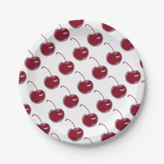 Sweet Cherry Paper Plate