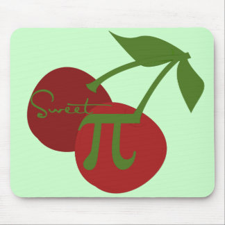 Sweet Cherry Pi Day Mouse Pad