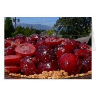 Sweet Cherry Pie Recipe Card