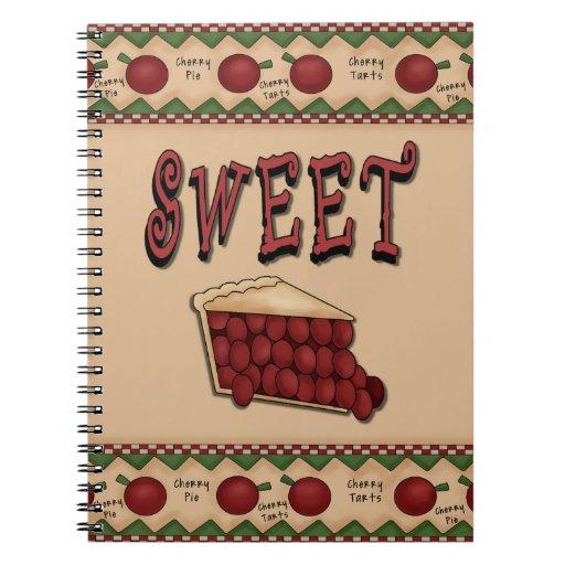 Sweet Cherry Pie with Cherries Border Notebooks