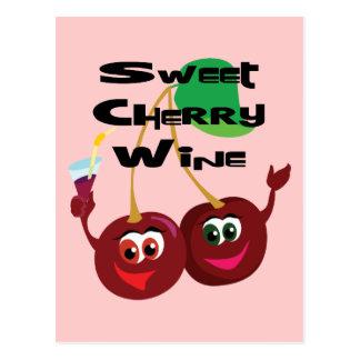Sweet Cherry Wine Postcard