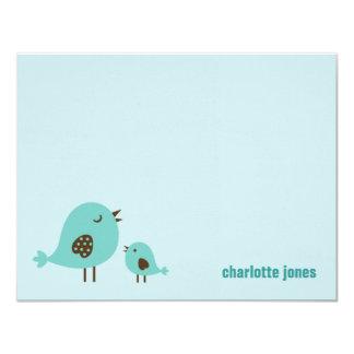 Sweet Chicks Thank You Cards - Blue 11 Cm X 14 Cm Invitation Card