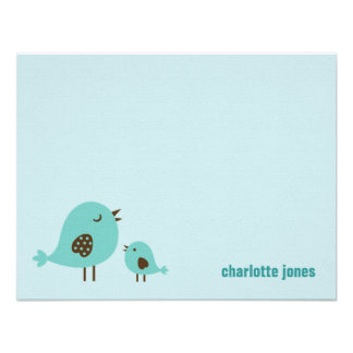 Sweet Chicks Thank You Cards - Blue Custom Invitation
