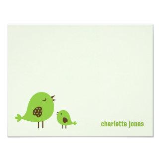 Sweet Chicks Thank You Cards - Green 11 Cm X 14 Cm Invitation Card