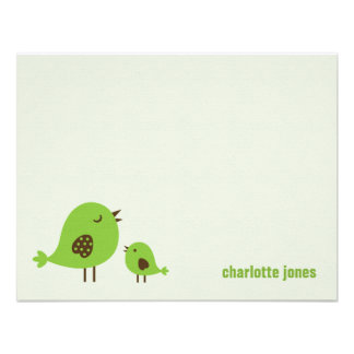 Sweet Chicks Thank You Cards - Green Personalized Invitations