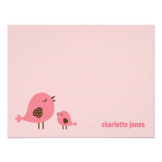 Sweet Chicks Thank You Cards - Pink Personalized Announcement