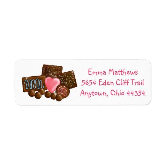 Sweet Chocolates Return Address Labels