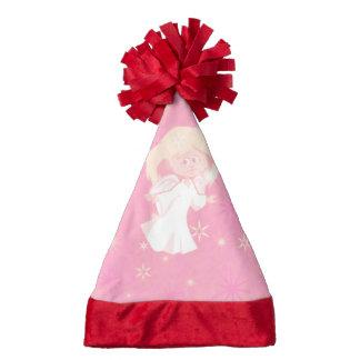 sweet christmas angel pink santa hat