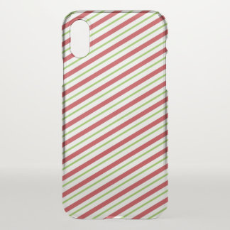 Sweet Christmas Candy Cane Pattern | iPhone X Case