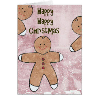 Sweet Christmas Gingerbread Cookies Card