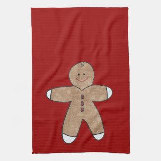 Sweet Christmas Gingerbread Cookies Tea Towel