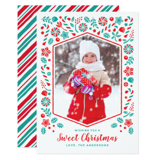 Sweet Christmas Holiday Photo Card