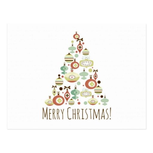 Sweet Christmas Tree Cards Post Card