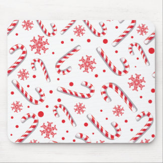 Sweet Christmassy Candy Bar Pattern Mouse Pad