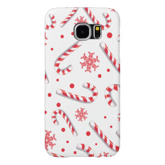Sweet Christmassy Candy Bar Pattern Samsung Galaxy S6 Cases