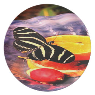 Sweet Citrus Butterfly Plate