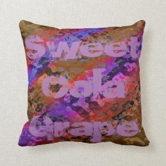 Sweet Cola Grape Throw Pillow
