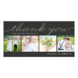 Sweet Collage Wedding Thank You Cards - Charcoal Customised Photo Card