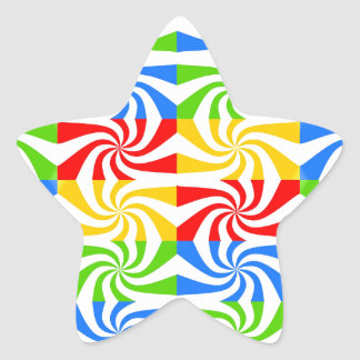 Sweet Colorful Abstract Image Star Sticker