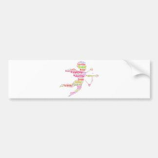 Sweet Colorful Valentine Cupid Bumper Sticker