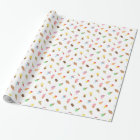 Sweet Colourful Ice Cream Pattern For Girls Wrapping Paper