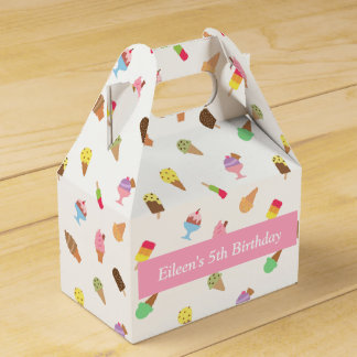 Sweet Colourful Ice Cream Pattern Party Favor Box
