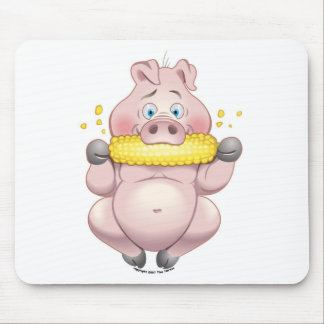 Sweet corn BBQ pink Piggy Mouse Pad