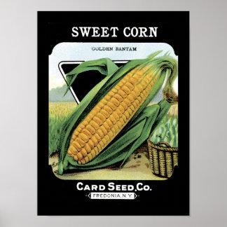 Sweet Corn Vintage Seed Packet Poster