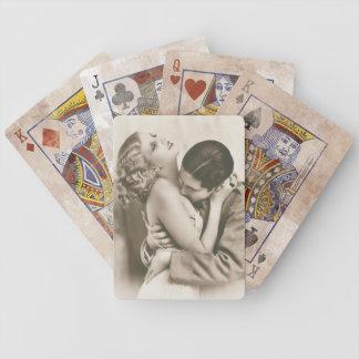 Sweet Couple Kissing Poker Deck