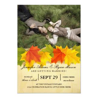 Sweet Couple Laying Grass /fall theme 13 Cm X 18 Cm Invitation Card
